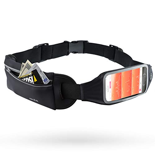 KZX Fit Running Belt for Phone - Detachable Waist Pouch for Hands-Free Workout (Iphone Arm Holder)