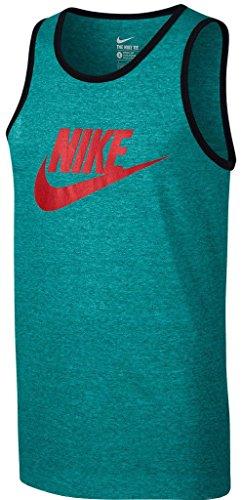Nike Mens Ace Logo Tank Top Energy Heather/Crimson 624314-362 Size 2X-Large