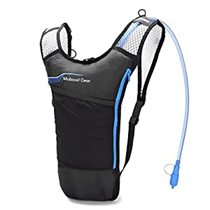 Updated Stronger Hydration Pack with 70 oz 2L Bladder for Running Hiking Riding Camping Cycling Climbing - Best Lightweight Backpack Water Bag for Runner Outdoor Bicycle & Bike Sports (Blue)