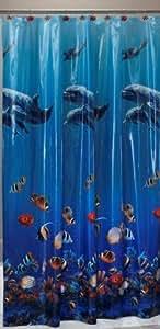 Realistic Fish Vinyl Shower Curtain