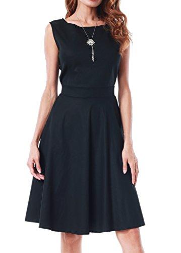 Black Plus Boatneck Dress - 6