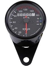 Keenso - Velocímetro odómetro led KMH de 12 V, para motocicleta, universal 0-160 km/h, indicador único