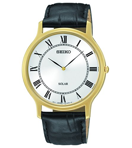 Seiko Men's SUP878 Analog Display Japanese Quartz Black Watch