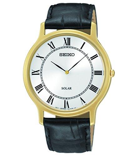 (Seiko Men's SUP878 Analog Display Japanese Quartz Black Watch)