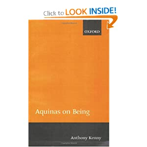 Aquinas on Being Anthony Kenny