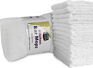 Utopia Towels Kitchen Bar Mop Cleaning Towels (12 Pack, 16 x 19 Inch) - Pure Cotton White Kitchen Towels - Professional Grade