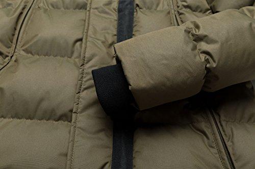 Wantdo A Gonfia Uomo Verde Cappuccio Cotone Giacca Con Inverno Vento rqCRr7F
