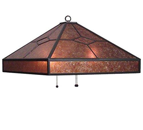 "Meyda Tiffany 14918 Diamond Mission Pendant Light Fixture, 22.5"" Width, Amber Mica"