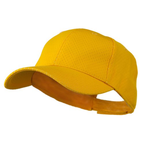Athletic Jersey Mesh Cap (Youth Athletic Jersey Mesh Cap - Gold OSFM)