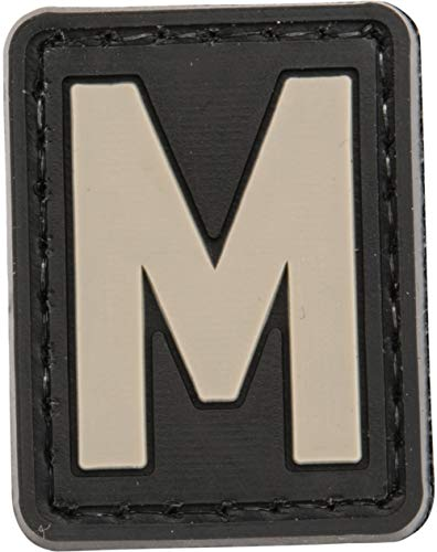 - Evike PVC Hook and Loop Letters & Numbers Patch Black/Grey (Letter: M)