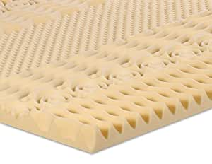 Serenia Sleep 2-Inch 7-Zone Memory Foam Topper, Twin