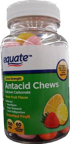 Equate Extra Strength Antacid Chews, Calcium Carbonate 750mg