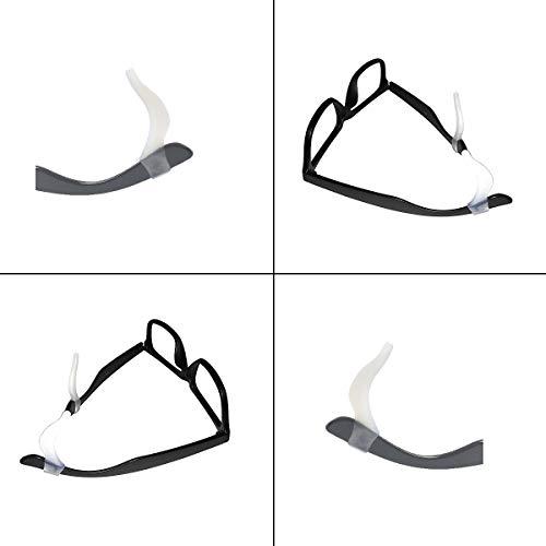Keepons Primestretch White Prevent Eyeglass Slipping Anti Slip Anti Slide Eyewear Sunglasses Spectacles Glasses Temple Tips Sports Ear Hooks Sleeves Retainer (5 Pairs)