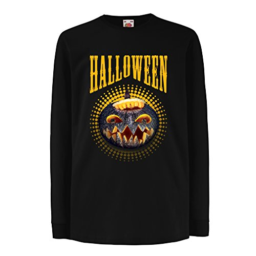 T-shirt for kids Halloween pumpkin - clever costume ideas 2017 (14-15 years Black Multi (Ideas For Halloween Costumes 2017 Uk)