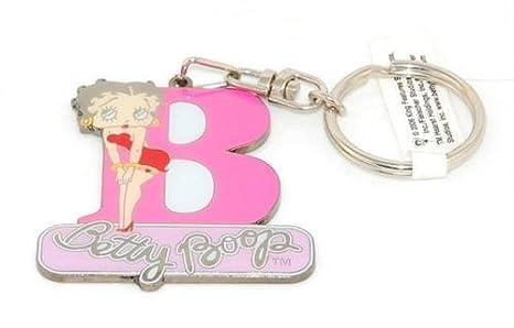 Llavero con diseño de letra inicial B de Betty Boop: Amazon ...