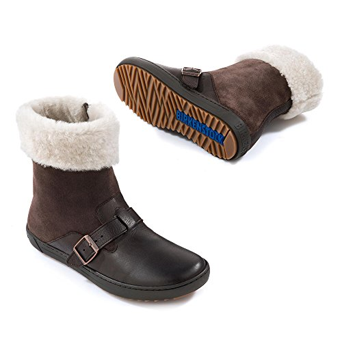 Birkenstock Stirling Ladies NL VL FUR Dark Brown Brown