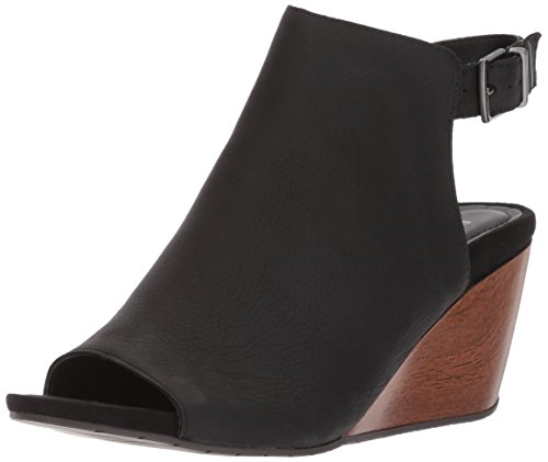 Leather Peep Toe Wedges - 7