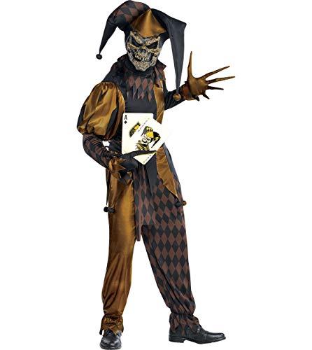 Amscan 844175 Standard Adult Joker's Wild Skeleton Costume, Black ()