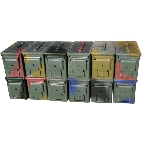 U.S. Military M2A1 50 Cal Ammo Cans (12 Pack) 50 Cal Ammo Types