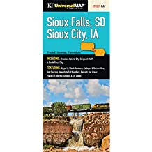 Sioux Falls SD/Sioux City IA Fold Map [Set of 2]