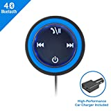APPS2Car Wireless Bluetooth 4.0 Hands-free Car Adapter with 3.5mm AUX Input and 2 Port USB Car Charger