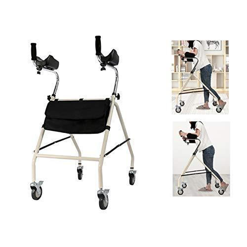 PXSRANY Andador para Ancianos con Ruedas,Aluminio,Plegable ...