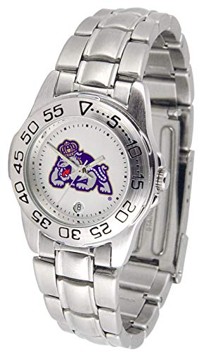 James Madison Dukes Gameday Sport Ladies' Watch with a Metal Band