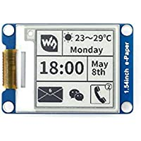 Waveshare 1.54 Inch E-Paper Display Panel Module 200x200 Resolution 3.3v E-ink Electronic Screen SPI Interface for Raspberry Pi/Arduino/Nucleo Support Partial Refresh