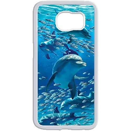 High Quality Fashionable Protector Blue Dolphins Phone Case for Samsung Galaxy s7 edge gift. Sales