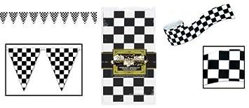 Amazon Com Checkered Flag Racing Party Decoration Set Race Car