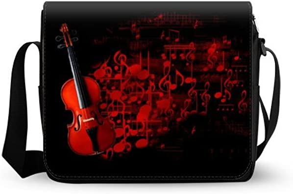 Music Violin Cross Body Shoulder Messenger Laptop Bag