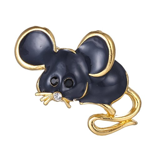 ptk12 Black vintage cute mouse Brooch pins gold color brooch decoration jewelry animal Brooches by ptk12