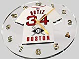 FanPlastic David Ortiz 34 'Big PAPI' Boston RED SOX Wall Clock - Major League Baseball Legends Edition !!