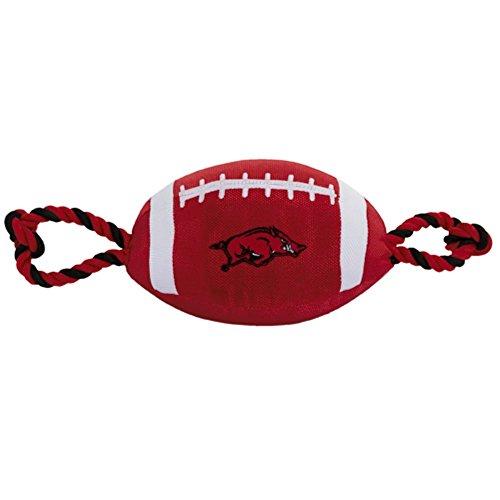 Arkansas Toy - Arkansas Razorbacks Pet's First Nylon Tough Football Dog Toy