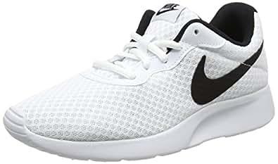 Nike Women's Tanjun Running Shoes, White/Black, 6.5 US