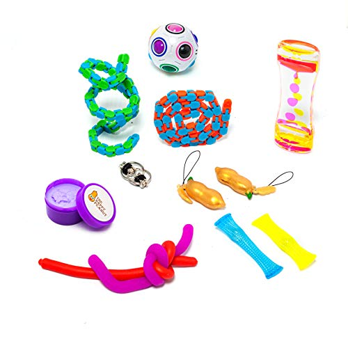Gadgets Happy - The Happy Peanut Fidget Toys for Sensory Kids Sensory Gadgets for The Classroom Office Desk Goodie Bags Party Favor Piñata Filler-Stress Relief for Kids Adults-Helps Autism ADHD Dementia