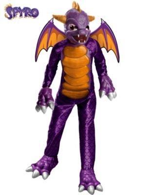 Boy's Deluxe Skylanders Spyro Costume, Purple ,Large 12-14]()
