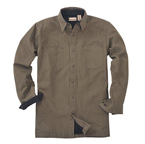 Backpacker Canvas/Fleece Lined Shirt Jacket, Moss Green, Small