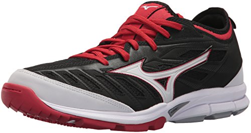 Men's Trainer 2 Mizuno Baseball MIZD9 Black Red Turf Shoes Players qwCHAZ7
