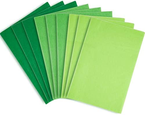 Whaline Assorted Green Tissue Paper 120 Sheet Gift Wrapping Paper 15 x 20 Inch Gift Wrap Tissue Paper Art Paper Crafts for DIY Gift Wrapping Birthday Easter Wedding Holiday Paper Flower, 3 Colors