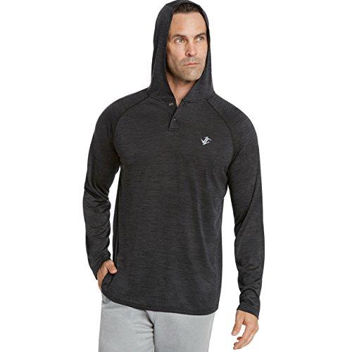 Jolt Gear Mens Hoodies Pullover - Long Sleeve Dri-Fit Hoodie For Men - Lightweight Hooded Sweater