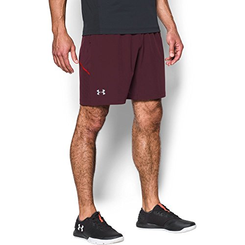 Under Armour UA Center Court shorts, Uomo, Raisin Red/ Steel, S