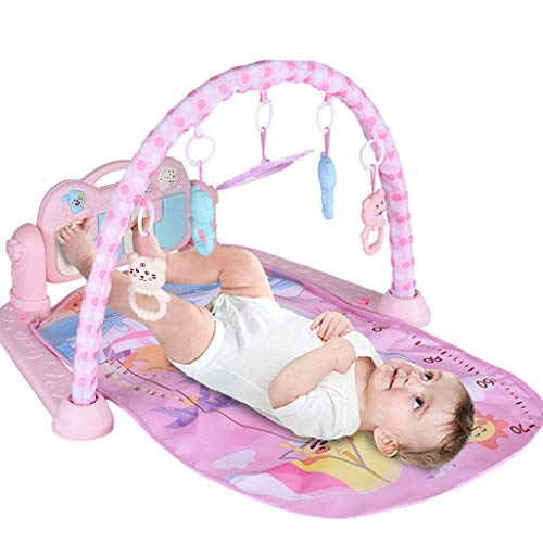 Baby Play Gym - Lay to Sit-Up Play Mat Gymotion. Infant Activity Toy for Newborns 0-12 Month (Pink)