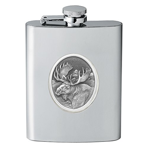 CMC Heritage Pewter Wildlife Moose Flask, One Size from CMC Heritage Pewter