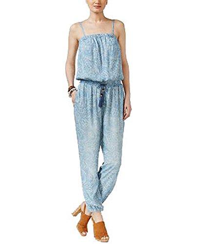 (INC International Concepts Shoulder Jumpsuit (Pearl Wash Blue, XL))