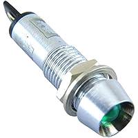 Yuco YC-7TPM-24G-12-N-10 Neon 7mm Miniature Indicator Pilot Light 12V AC DC, Green, 10 Piece