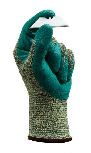 (Ansell 11-501-11 Size 11 HyFlex 11-501 Medium Duty Cut and Abrasion Resistant Blue Foam Nitrile Palm Coated Work Gloves with Intercept Technology, 1