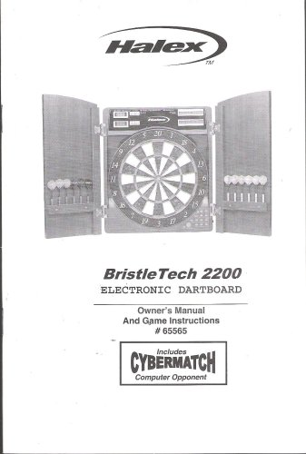 Regent Dartboard - Halex BristleTech 2200 Electronic Dartboard Owner's Manual and Game Instructions (Part #65565)