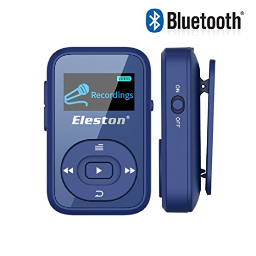 Eleston Compact & Portable Bluetooth MP3/MP4 Player Hifi Lossless Sound Quality Music Player with 1.8inch LCD Screen (Blue)