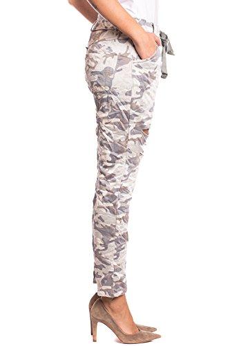 Abbino 2810A-9 Pantalones para Mujer - Hecho en ITALIA - 3 Colores - Entretiempo Primavera Verano Otoño Largos Sport Deporte Casual Chico Fashion Elegantes Rebajas Algodón Fashion Marrón Fango